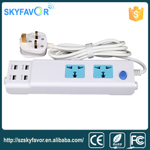 2016 new design electrical outlet AC extension socket usb power strip for home office