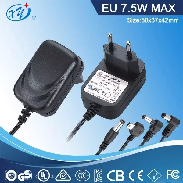 EU plug 5v 1.5a 7.5w 29V 2A 12V 1A Dve Switching Ac Dc Power Adapter for lights