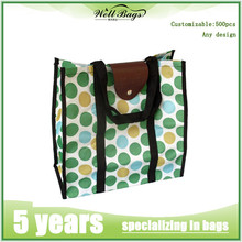 Full Printing Lovely Shopping bag, green handbag