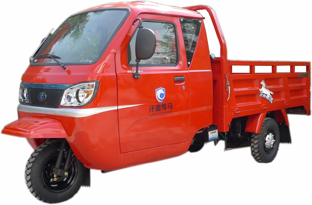 Closed Cabin / Open Cargo Box Gasoline Tricycle