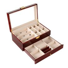 Custom Made High Gloss Printed Wooden Watch Jewelry case Storage Display Gift Watch Box in stock
