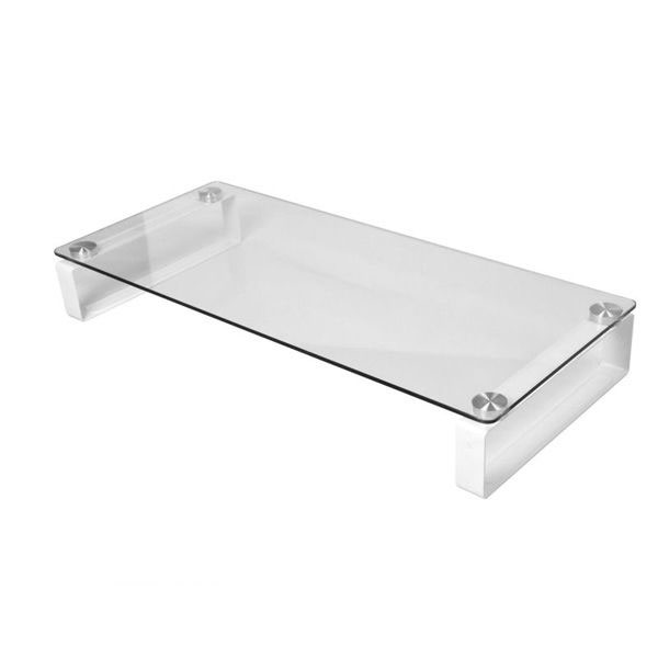 Laptop glass stand notebook glass table monitor stand