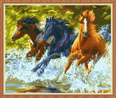 running horse oil paintings by numbers for wholesale GX7841