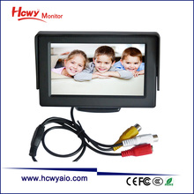 "Hot 4.3"" Digital High Resolution TFT LCD monitor With Good Brightness & Wide Viewing Angle"