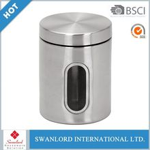 round Metal Biscuits aluminum canister