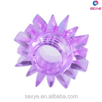 Soft Silicone Vibrating Cock Ring Condom With Strong Vibrator