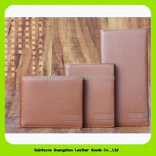 15423 High quality famous band genuine leather men's wallet