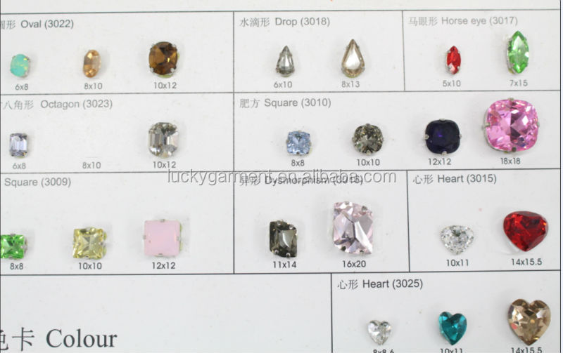 wholesal stones and crystals point back rhinestones