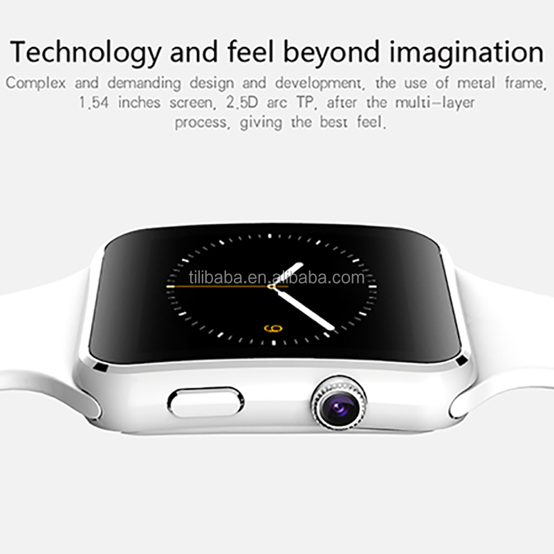 Cheapest OEM New Bluetooth Smart Watch X6 Smartwatch For <strong>Android</strong> <strong>Phone</strong> With Camera Support SIM TF Card