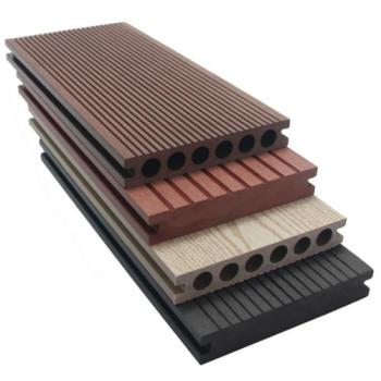 High quality wood plastic composite board decking flooring