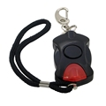 68*40*28MM Black Emergency Self Defense Security Alarm with LED Flashlight for Lady Students