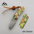 Damascus folding blade knife