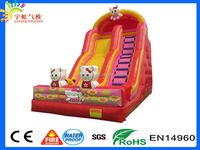 10 Years Factory Cheap Cute Mini Hello Kitty Inflatable Slides For Children Play In GunangZhou