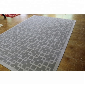 Gray Check Pattern Hand Tufted Carpets
