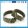 Adjustable Army Dog Collar with Metal Buckle for hunting