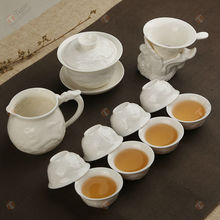 TG-401W135-W korean tea set with high quality silver plated teapot