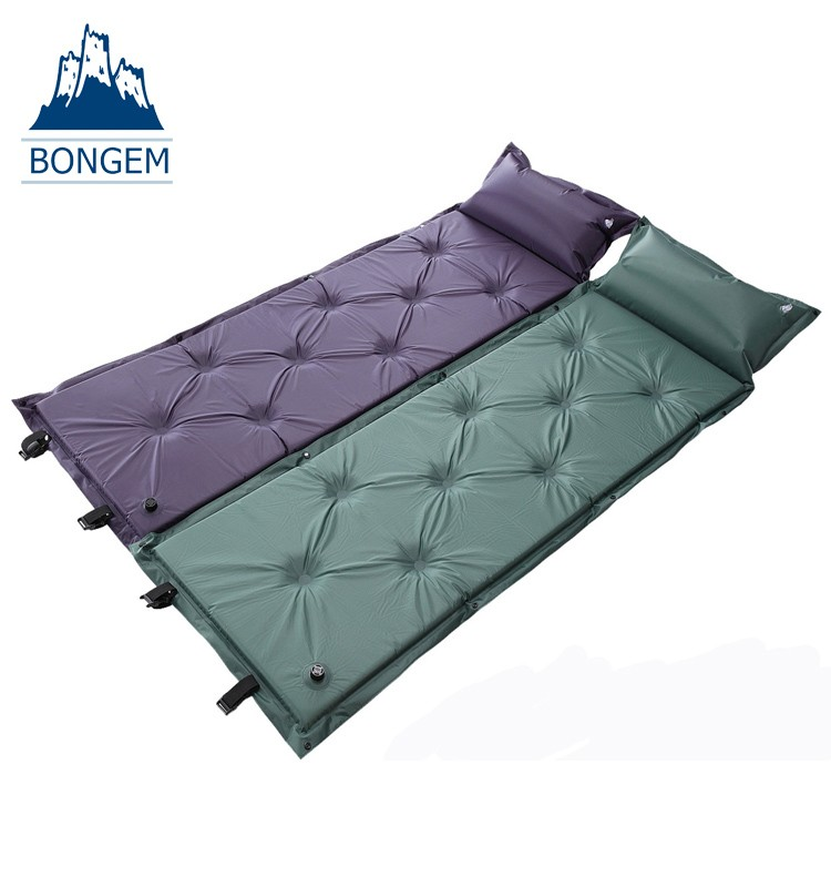 Outdoor camping self-Inflating air mat mattress pad pillow hiking sleeping bed camping mat