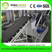 Dura-shred good quality tyre pyrolysis carbon black use equipment