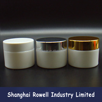 30ml 50ml white ceramic cosmetic glass jar with lid closure