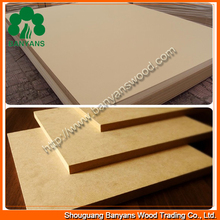 Economical standaard sizes 3mm/ 5 mm Plain MDF board of high quality for furniture backboard