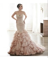 Embroidered Bridal Gowns Most Popular Design Ruffle Organza Bridal Gowns Designs