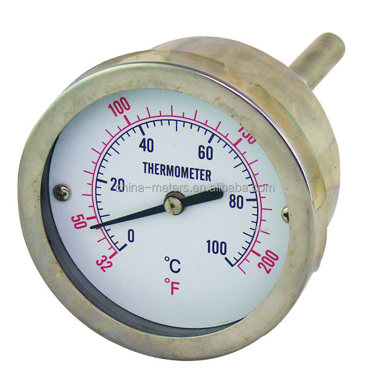 Capillary dial thermometer