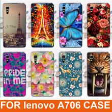 14 patterns painted colored animals beautiful flowers tower design moblie phone case hard back cover skin shell for Lenovo A706