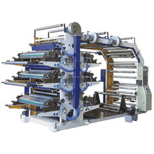 HDPE LDPE Plastic Film Roll 6 Color Flexographic Printing Machine