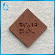 Leather label factory customs laser - carving engraved artificial leather patch tag for two-face coat