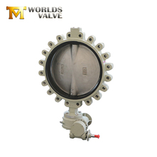 Food grade aluminum bronze PN10 & PN16 sanitary worm gear lug butterfly valve for cement