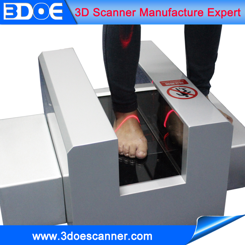61sets datas better scanning result with unsock feet 3d foot scanner