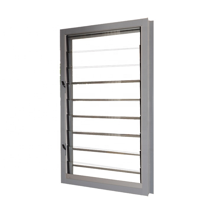 AS2047 Australian standards  modern new home automatic aluminum glass louver windows