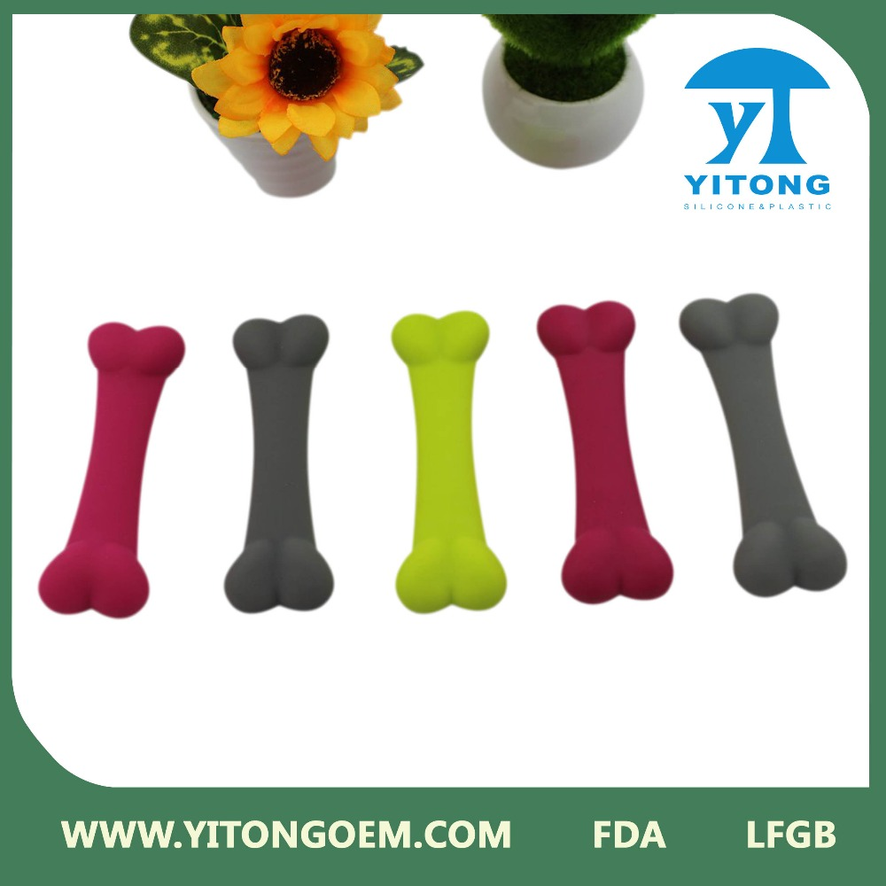 China pet accrssories wholesale FDA standard colorful silicone dog bones
