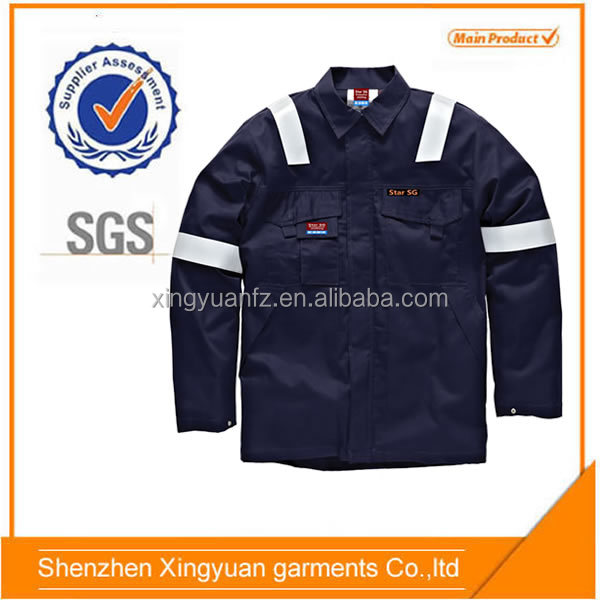 Star SG China supplier Dark bule breathable cotton Fireproof mining protective clothing