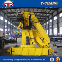 hot sale12tons mini knuckle boom portable crane for truck with ISO9001 certification