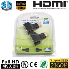 HDMI to RJ45 CAT- 5e / 6E Signal 3D HD Suporte Extender Adapter Full HD 1080p