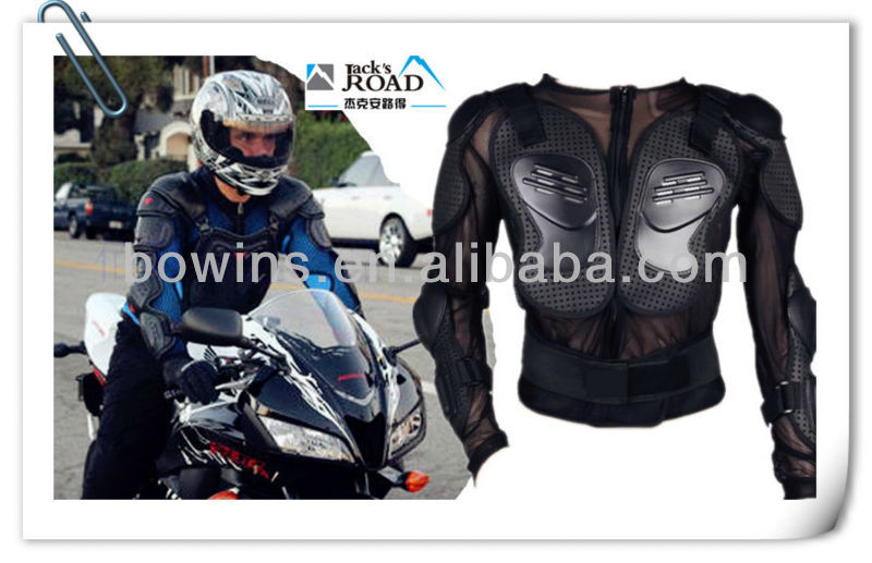 motorbike on road riding armor jacket