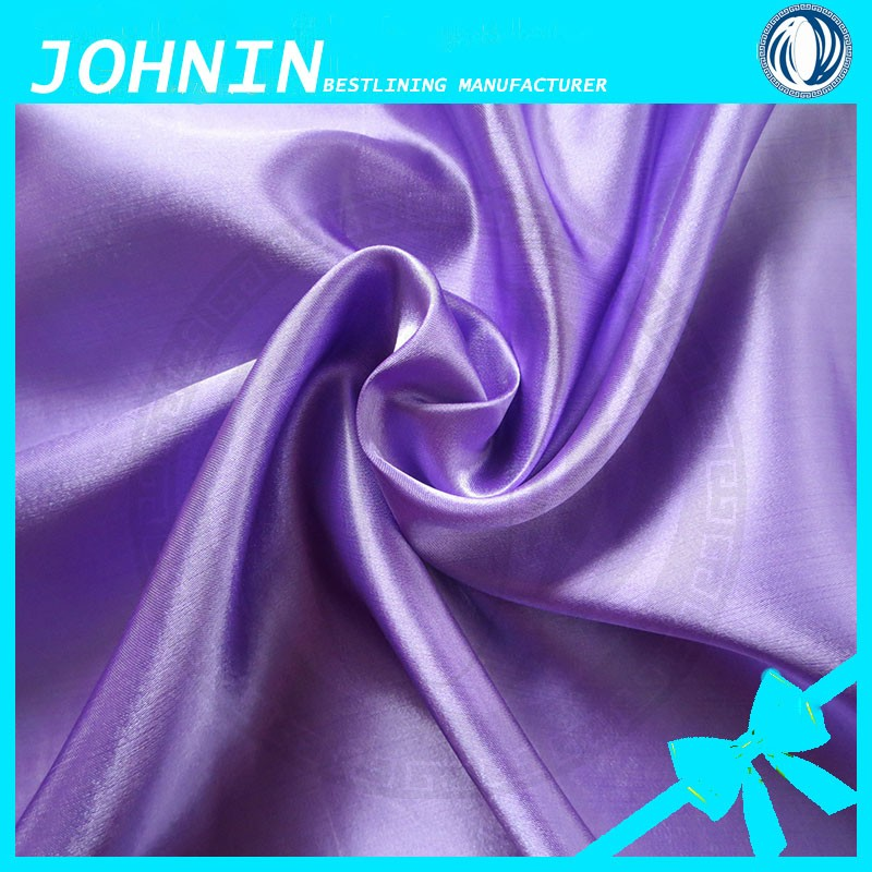 cheap polyester satin taffeta lining fabric/different types dress materials shaoxing textile