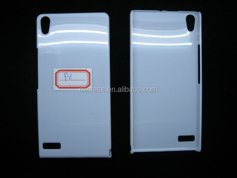Sublimation PC Blank mobile case for Huawei Ascend P6,For UV printing case