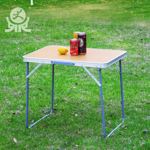 Wholesale cheap portable foldable composite material study desk tables small suitcase folding aluminium picnic table