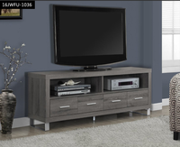 wood grain finish with multi drawers particle board plasma TV stand