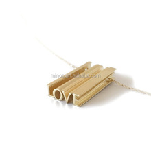 3D Hidden Message Necklace with Long Bar Letter Pendants love words necklace custom