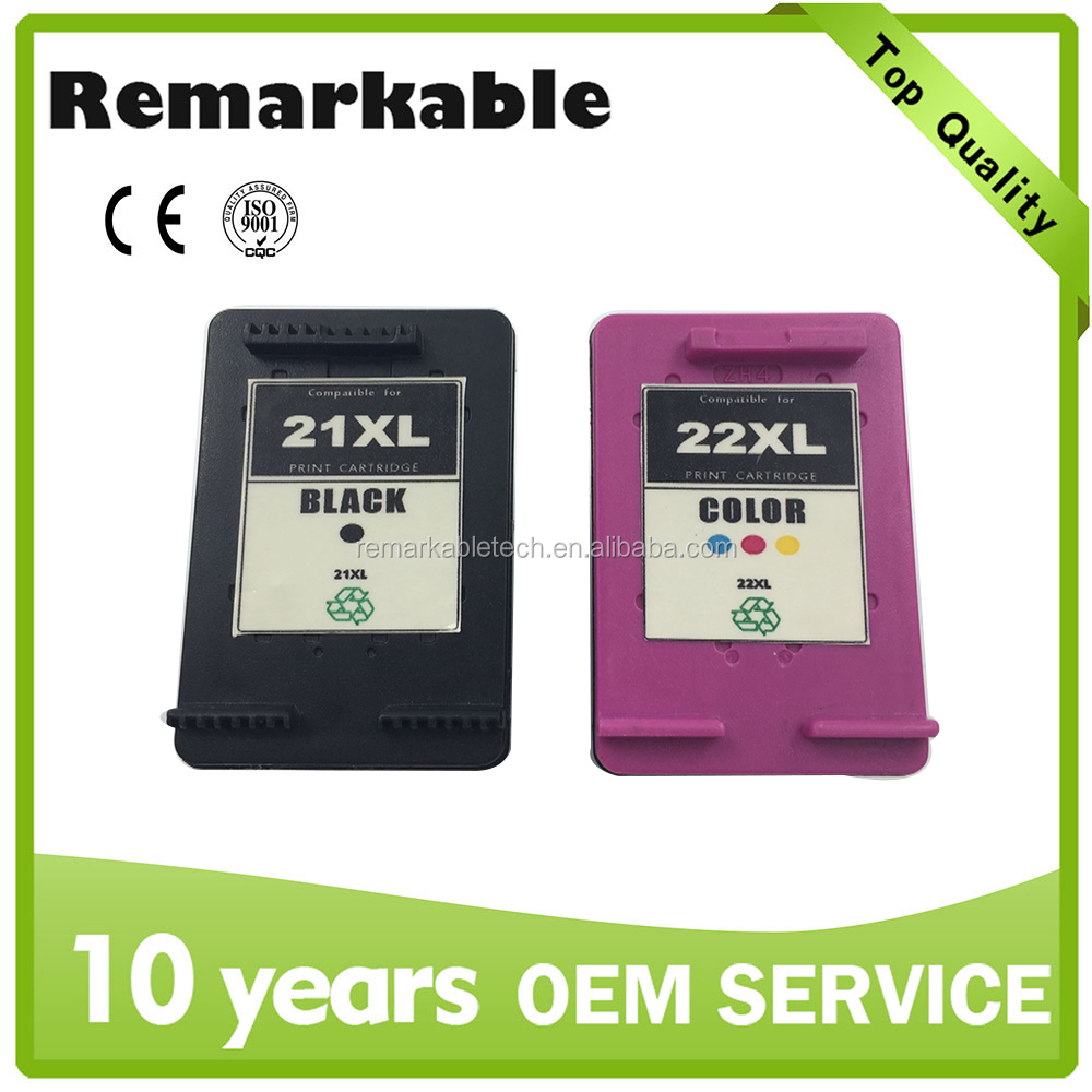 Ink cartridge for HP21 22 remanufactured ink cartridge for HP 21 22 Compatible for HP