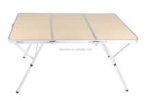 simply equipped aluminum folding conference table
