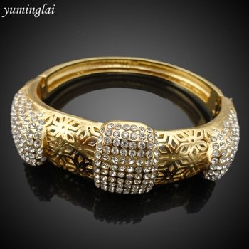Latest Design CZ Copper Fashion Bangle European and American punk style Fashion Jewelry Bracelet GHK950