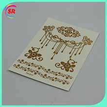 2016 new tattoo designs metallic temporary tattoo sticker