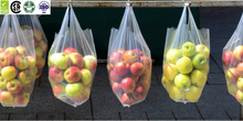Good quality transparent plastic flat bag on roll for supermarket with HACCP