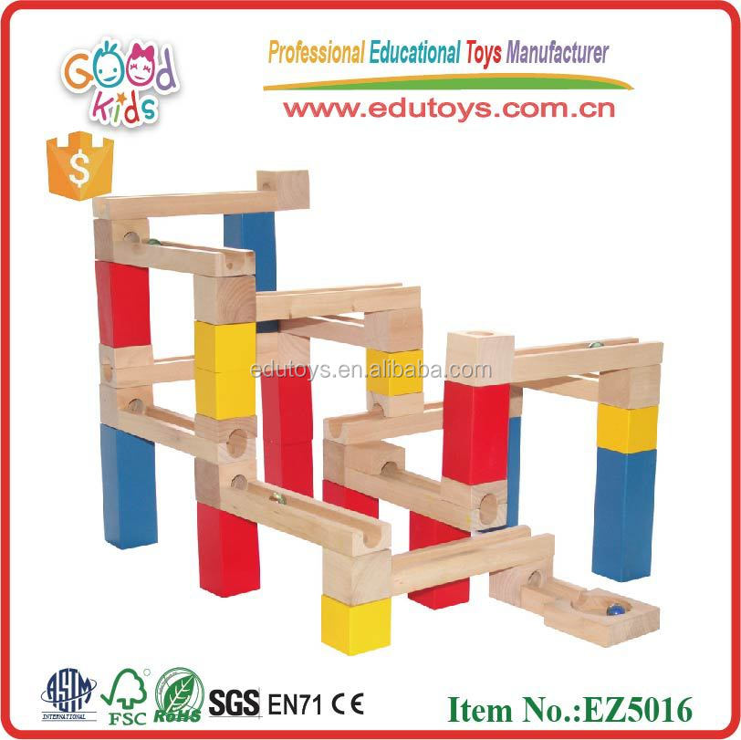 Goodkids new wooden blocks castle marble run