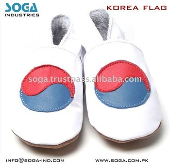korea country flag fashion baby shoes .