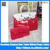 Fashion Women Handbag Silica Jel Jelly Candy Color Bag Sets Beach Bag